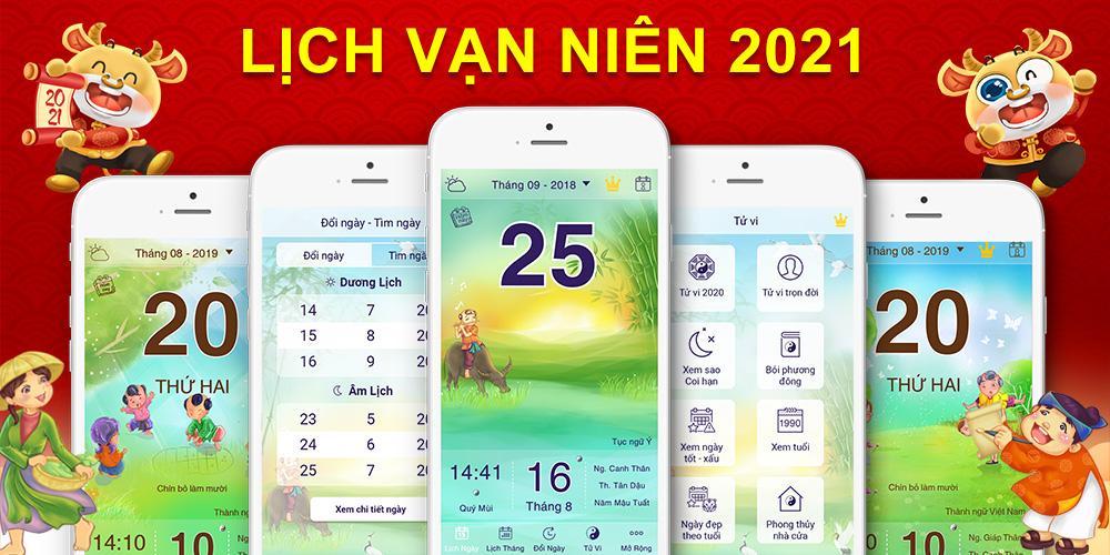 Tải Lịch Vạn Niên 2021